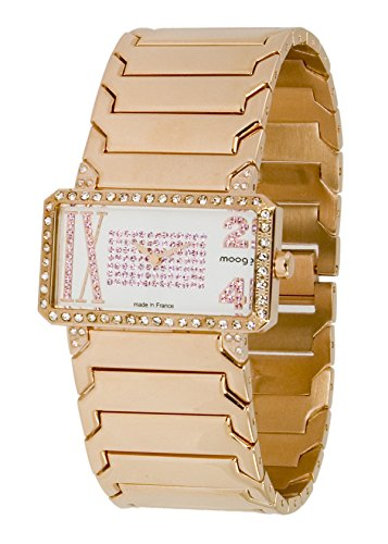Moog Paris In Between Women's Watch with White Dial, Rose Gold Stainless Steel Strap & Swarovski Elements - M44874-006