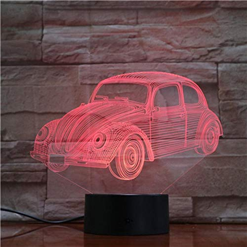 Vintage Oldtimer 3D Nachtlicht 7 Farbverlauf Visuelles Licht Led-Licht Kreative Schrank Licht Dekoration Tischlampe Touch-Schalter