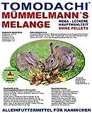 Tomodachi Kaninchenfutter natürlich, pelletfrei - Gemüse, Möhrenflocken, Erbsenflocken, Getreide, Nüsse, Sonnenblumenkerne, Kräuter, Alleinfuttermittel Kaninchen, Mümmelmanns Melange 10kg Sack