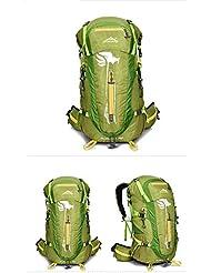 Tiras de nylon impermeable Mujer bolso viaje al aire libre mochila de viaje gran ciclismo bolsas impermeables para hombres y mujeres 50L , green