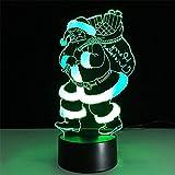 CFLEGEND3D Nachtlicht (Touch + Fernbedienung) Charakter Film Tier Cartoon Dekoration Gradienten Lampe Kinder Spielzeug Party Lichter LED7 Farbe USB Schlaf Beleuchtung