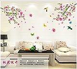 WallPicture Art-Pink Plum Blossom Flower & Bird Decal Mural Art Wall Sticker For Home Room Decoration TXK-A0011QT by Wall Sticker