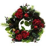 Peony  - Corona de flores frescas (rosa), color rojo