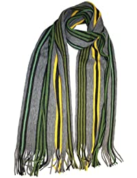 Unisex Mens Ladies Adult Multi Coloured Striped Knitted Warm Winter Scarf Samuel