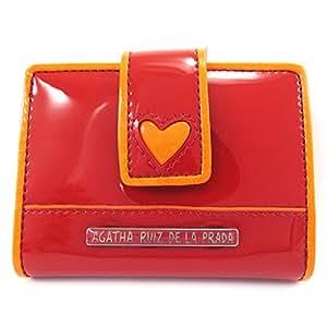 Agatha Ruiz de la Prada [L8549] - Porte-cartes 'Agatha Ruiz de la Prada' rouge orange