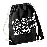 Mein Einhorn Hat... Gymsack Black Certified Freak