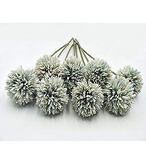VI AI Flores Artificiales, Flores Artificiales de Seda de plástico para hortensias Artificiales, 8 Cabezas de Flores Artificiales de Tacto Real para decoración del hogar, jardín, Fiesta, Boda