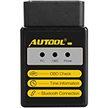 Bluetooth Lector de código de error Autool OBD escáner C1V1.5para ELM327para Torque Android OBDII OBD 2herramienta de análisis Auto OBD-II motor Fault Código de diagnóstico probador