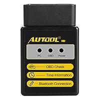 Lecteur de code de défaut Bluetooth Autool OBD Scanner C1 V1.5 Fonctions: Version du logiciel: V2.1 Version matérielle: V1.5 Fonctionne Bluetooth Android uniquement pour RPM du moteur Valeur de charge calculée Température du liquide de refroidissemen...