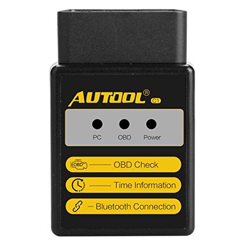 Preisvergleich Produktbild Bluetooth Fehlercode Leser Autool OBD Scanner C1 V1.5 für ElM327 für Drehmoment Android OBDII OBD 2 Auto Scan Tool OBD-II Engine Fehler Diagnose Code Tester
