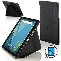 """Forefront Cases® Nueva Origami Funda Case Cover Protectora Plegable para Google Nexus 9 - Tablet de 8.9"""" – Función automática inteligente de Suspensión/Encendido + Lápiz óptico y protector de pantalla"""