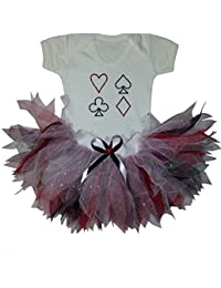 Queen Of Hearts Inspired Sparkle Baby Grow & Tutu Set (Newborn)