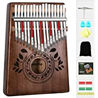 Kalimba 17 Keys Thumb Piano - Portable Finger Thumb Piano, High Quality African Wood, Mbira with Tuning Hammer Piano Bag Study Instruction, Kalimba Christmas Gift for Children Beginners