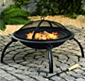 Guanheag Home Garden Fire Pit Patio Heater Round Camping Log Heater Folding Legs Bbq Burner from GuanHeag