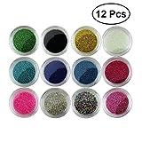 Frcolor 12 Farben Handgemachte Stahlkugel Kaviar Perlen 3D Nagel Dekoration Nail Art Zubehör