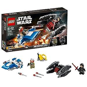 LEGO Star Wars-A- Wing vs Tie Silencer Microfighters Episode VIII Juego de Construcción, Multicolor, única (Lego ES 75196)