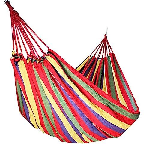YUEDGE portátil al aire libre Viajes Camping 2persona paracaídas hamaca de tela algodón ligero Carga máxima de 270kg
