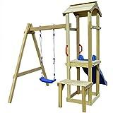 Festnight Spielturm Kletterturm Spielplatz mit Rutsche Schaukel 228 x 168 x 218 cm Kiefernholz