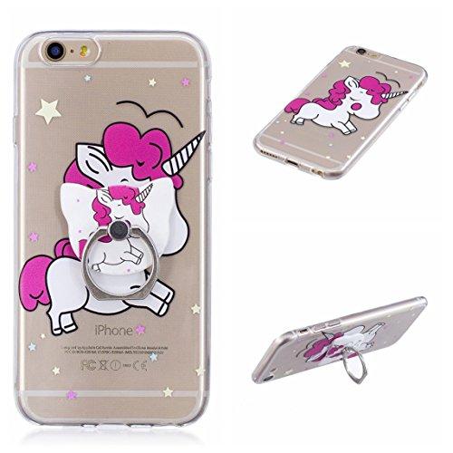 iPhone 6 Plus/6S Plus 5.5 Hülle, Voguecase Silikon Schutzhülle / Case / Cover / Hülle / TPU Gel Skin Handyhülle Premium Kratzfest TPU Durchsichtige Schutzhülle für Apple iPhone 6 Plus/6S Plus 5.5(Stüt Stützen-Unicorn 11