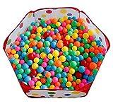 LOBTY 1-1.5m Beweglicher Hexagon Kinder Baby Bällebad Ballpool Pool Bällepool Drinnen und draußen , Kinder Spielzeug Spiel Zelt für Kindergeschenke + 50 Bälle