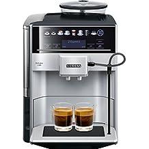 Siemens EQ.6 plus s300 TE653501DE Kaffeevollautomat (1500 W, SensoFlow System, aromaDouble Shot, coffeeSelect Display, Keramik-Mahlwerk, 15 bar. Bis zu 2 personalisierte Getränke speichern) silber