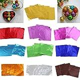 Sharplace 200pcs Alufolie Folie Packung Wrapper für Schokolade Backen Party Süßigkeit Schokolade Am Stiel Wrapper - Rosa