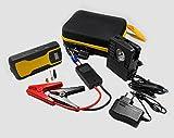 Universal Auto Starthilfe Batterie | Mobile Starthilfe Modell G02 mit 11.000mAh | Max. 12V/400A | Multifunktional als USB Powerbank für Smartphone/Tablet, zum Laden der Autobatterie, mit integr. LED-Lampe, kleiner Kompressor zum Luft prüfen