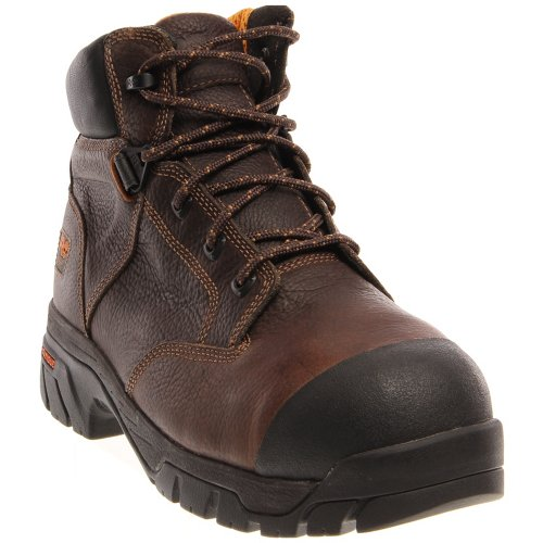 Timberland PRO 6In Helix Internal Met Guard Mens Brown Leather Work Boots 4.5M
