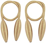 Lixada 1Pair Magnetic Curtain Tiebacks Holdbacks Curtains Rope Strap Clip for Home Office Decorative