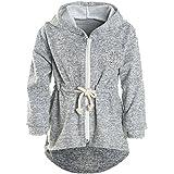 BEZLIT Mädchen Kapuzen Jacke Pulli Pullover Glitzer Sweatshirt 21489 Grau Größe 116