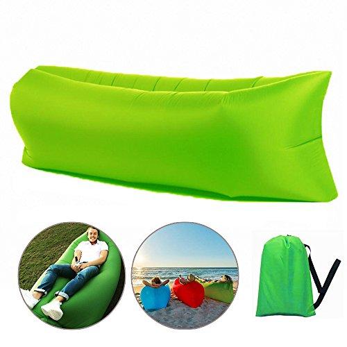 Lezed sacco a pelo gonfiabile poltrona gonfiabile divano a cuscino aria sacco a pelo pigro sacco a pelo da giardino pieghevole for campeggio picnic escursionismo piscina e accessori da spiaggia