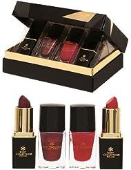 Body Collection Vernis à Ongles & Rouge à Lèvres cadeau 4pièces