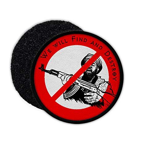 Copytec Patch Nein zu Terroristen Terror Verbot ISAF Extremist Security Polizei #30455