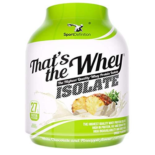 Thats The Whey Isolate 2100g Ananas weiße Schokolade geschmack hochwertigstes Proteinsupplement basierend auf reinstem Molkeproteinisolat (WPI) Bis zu 90% reines Protein. - Wpi-whey Protein