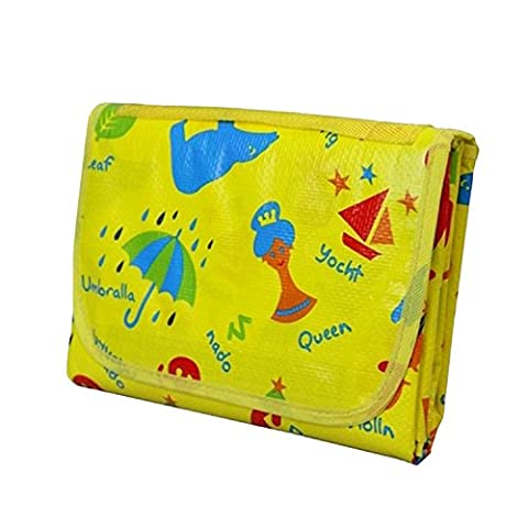 Honeystore Waterproof Folding Blanket Children Picnic Handy Mat Family Play Mat Kids Cute Cartoon Baby Crawling Pad Cushion Moisture-proof Lawn Carpet Travel Picnic Rug 70.9