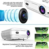 Proiettore LCD HD Proiettore Portatile LED Videoproiettore da 3200 Lumen Supporto Full HD 1080p HDMI/VGA/USB/AV Interfaccia Collegamento Proiettore Per PC/TV Stick Gioco con Cavo HDMI e AV, Bianco