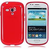Rot Telefon Beschützer Schutzhülle Abdeckung Fall Schale Zubehör Hülle Cover Case für Samsung Galaxy S3 Mini SIII Mini S III Mini I8190 (es passen nicht S3)