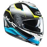 HJC Helmets Hjc Motorradhelm Is-17 Loktar Blau (Large, Blau)