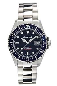 Gigandet Automatikuhr Herren SEA GROUND Analog Wasserdichte Uhr (30 bar), Armband Uhr Edelstahl-Gehäuse -/Armband, Herren Uhren in silber mit Datum, Gangreserve 42 Std., G2-009