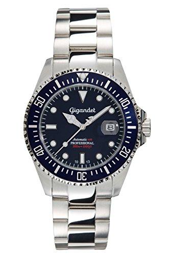 Gigandet Automatikuhr Herren SEA GROUND Analog Wasserdichte Uhr (30 bar), Armband Uhr Edelstahl-Gehäuse -/Armband, Herren Uhren in silber mit Datum,...