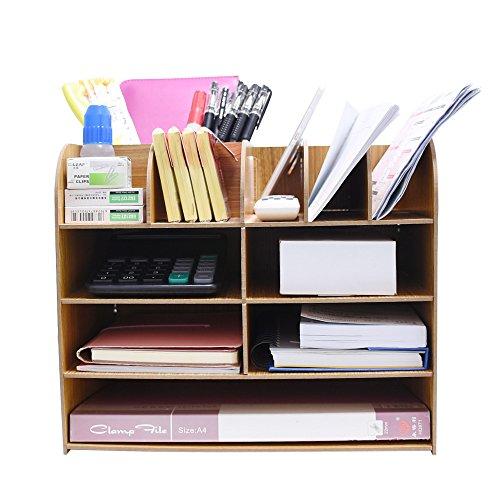 Datei Halter Aufbewahrungsbox Büro Organizer Creative Holz Office Supplies Abnehmbare Desktop MULTILAYER Datei Rahmen DIY Papier Dateien Slot/Magazin Regal