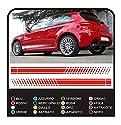GRAFIC Klebstoffe Custom Streifen Border Lines für Autos Tuning Stickers Decals Aufkleber (SCHWARZ MATT)