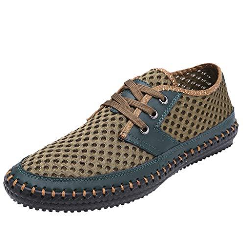 Fenverk Herren Laufschuhe Herren Damen Turnschuhe Sportschuhe Herren Sommer Trekking Sandale Wanderschuhe Super Atmung Grau, Blau, Grün 38-48(Grün,44 EU)