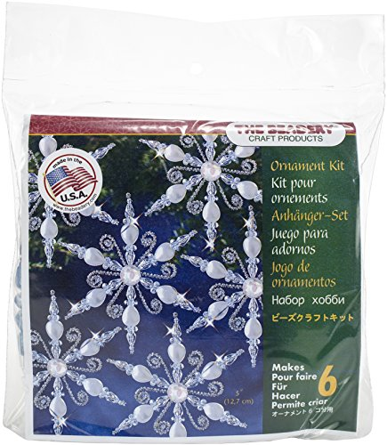 ent Kit-Light Sapphire Snowflake Makes 6 (Beaded Christmas Ornament-kits)