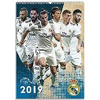 1art1® Fútbol - Real Madrid Calendario Oficial 2019 Póster Calendario (42 x 30cm)