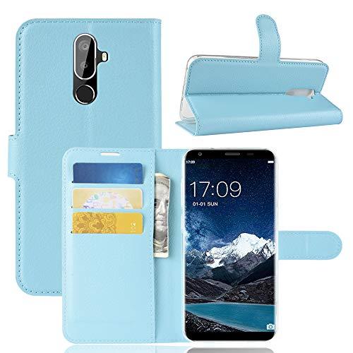 SHIEID Oukitel K5 Hülle Brieftasche Hülle Kunstleder Handyfall Handyfall Für Oukitel K5(Blau)
