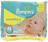 Pampers Swaddlers Diapers, Newborn (Up to 10 lbs.), 20 Count by Pampers