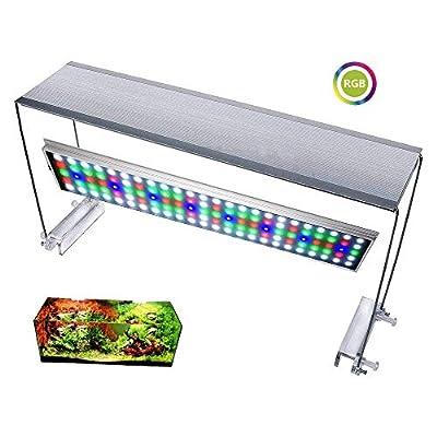 25W RGB Série Aquarium Plant Grow LED Lumière Lampe Éclairage avec lumière câblée dimmer Pour récif corail Simuler Lever Et Coucher Du Soleil