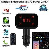 Bluetooth Trasmettitore FM, Colorful (TM) Auto Radio Adattatore per auto Bluetooth vivavoce Bluetooth USB caricabatteria da auto Car MP3Player Bluetooth Car Kit con cavo AUX