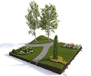 Premium Rasenkanten aus Metall 10 St. im Set 1m lang, 10cm hoch, 1,5mm stark   Beeteinfassung Mähkante Beetumrandung Rasenbegrenzung Randeinfassung Beetbegrenzung Beetkante   Moderne Gartengestaltung